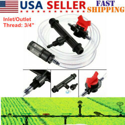 Garden Irrigation Device Agriculture Ozone Filter Switch Fertilizer Injector USA $14.24