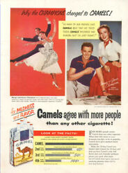 Marge and Gower Champion for Camel cigarettes ad 1953 $9.99
