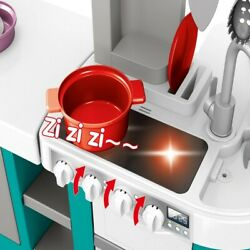 Kids Kitchen Playset W All The Sightsamp;Running Water Sounds Of Kitchen for age 3 $53.93