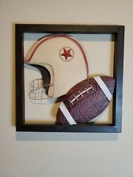 Metal Football Wall Mural from Hobby Lobby 16 in x 16 in #691880 $18.96