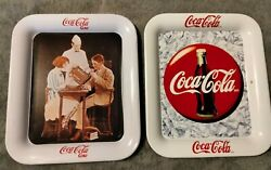 Pair Of Vintage Coca Cola 90#x27;s Reproduction Tip Tray#x27;s $14.99