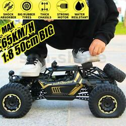 1 8 4WD RC Car Toys Monster Truck Off Road Vehicle Remote Control Buggy Crawler $61.98