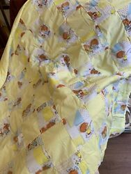 Baby Quilt Handmade shades of yellow 42 x 51 in NEW from the 80#x27;s never used $19.99
