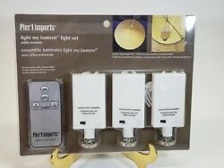 Pier 1 Light My Lantern Kit Battery Powered Lights for Paper Lanterns and Remote $18.99