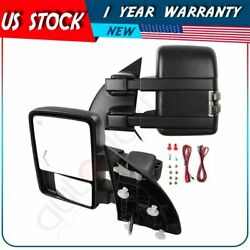 Heated Power Clearance Arrow Light Turn Signal Tow Mirrors For 99 07 Ford F 250 $164.52