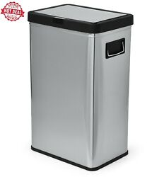 Better Homes amp; Gardens 13.7 gal Touchless Dual Sensor Kitchen Garbage Can with S $46.99