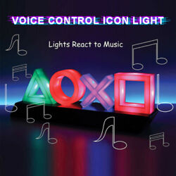Modern Room Voice Control Icon Light Gaming Atmosphere Mood Breathing LED Lamp` $30.40