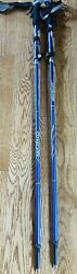 TREKKING POLES Collapsible Hiking Pole Sticks with Quick Lock Blue By COVACURE $32.99