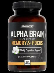 Onnit Alpha BRAIN® 90 capsules memory mental speed and focus. free Ship $40.00