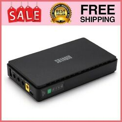 Mini UPS Battery Backup 10000mAH Uninterruptible Power Supply for WiFi Router $51.99