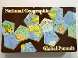 1987 National Geographic Globall Pursuit Board Game Sealed Pieces New $19.99