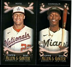2021 Topps Allen and Ginter X Mini Black #1 350 W RC SP PICK TO COMPLETE SET $1.49