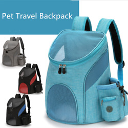 Outdoor Pet Travel Double Backpack Foldable Cat And Dog Pet Box Pet Supplies Tra $13.55