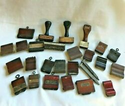 ESTATE FIND 25 1940s RUBBER STAMPS FROM NOBLESVILLE IND RAILROAD MUSEUM $34.00