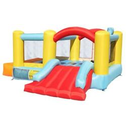 Kids Bounce House Castle with Basketball Hoop Inflatable Bouncer Fun Slide Safe $179.89