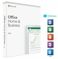 Microsoft Office Home and Business 2019 1PC DVD for Windows $99.99