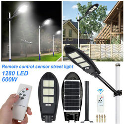 Solar 1000W 1680LED Street Light Commercial Outdoor Area Security Road Lamp IP67