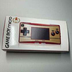 GBM 2 Nintendo GAMEBOY micro with 2 films Handheld Game Console Rare Red Gold $553.90