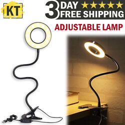 LED Desk Light Reading Lamp Clip Dimmable Table Lamp Bedside Bed Working Lights $14.99