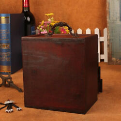 Portable Handmade Antique For Women 4 Drawers Wooden Jewelry Box Large Capacity $32.99