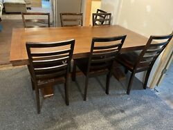 Large pedestal dining room table with 9 chairs new Out box $299.00