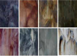 8 Variety Pack Stained Glass Sheets 4 X 6 Inch Art Glass $32.99