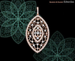 18K750 Rose Gold Edwardian diamonds Q&D design pendant