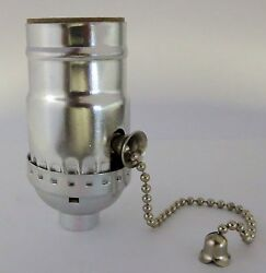 Lamp parts: Off on nickel pull chain lamp socket TR 12 $2.90