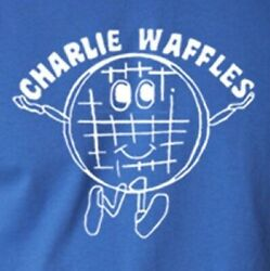Charlie Waffles T shirt Two and Half Men Funny 5 Colors S 3XL $14.95