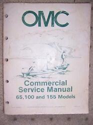 1954 OMC Commercial Service Manual 65 100 155 Motor F