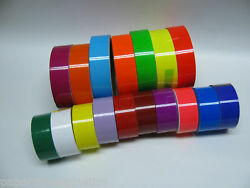 Colored Glossy Vinyl Tape Pick your color and size Gloss Neons Solid Colors