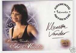 BUFFY WOMEN OF... MUSETTA VANDER as SHE-MANTIS AUTO