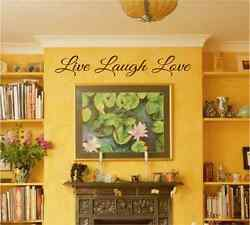 NEWEST custom LIVE LOVE LAUGH wall art ANY COLOR home decor wall decal $19.95