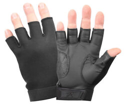 tactical fingerless gloves stretch fabric black rothco 3460 $16.99