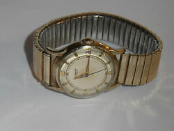 VTG 50s WITTNAUER AUTOMATIC 10K GF WATCH! STAINLESS BACKNEW CRYSTAL! KEEPS TIME