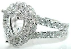 2.75 CT Diamond MOUNTING SETTING for 9 X 7 mm WIDE PEAR