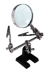 Helping Hand Magnifier 4x Power Third Hand Soldering Crafts Beads Jewel