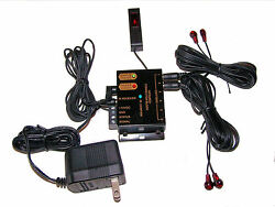 Infrared Remote Extender 4 Emitters 1 Receiver Hidden IR Repeater System Kit