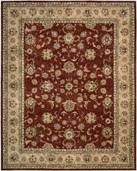 Nourison 2203-BRK $1199 Oriental Handmade Wool Rug 5.6' x 8.6' Used 1 Month Only