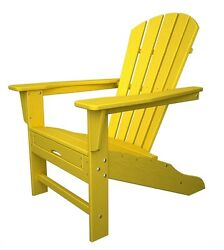 POLYWOOD South Beach Ultimate Adirondack wHideaway Ottoman in Lemon HNA15LE NEW