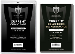 100 Premium Current Modern Comic Book Bags and Boards Sleeves Max Archival $21.99
