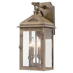Minka Lavery 72432-261 Eastbury Colonial Brass Outdoor 4 Light Wall Sconce