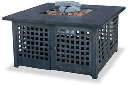BLR LP Gas Outdoor Firebowl with TileMarble Mantel - 41.25 SQUARE GAD920SP New