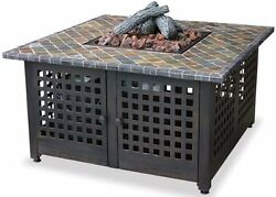 BLR LP Gas Outdoor Firebowl with SlateMarble Mantel - 41.25 SQUARE GAD860SP New