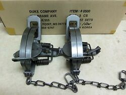 2 New Duke # 3 Coil Spring Traps 0500 Beaver Bobcat Coyote Lynx Trapping $33.99