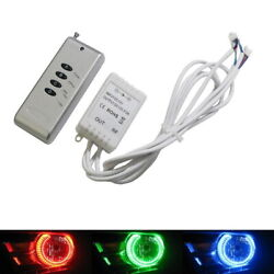48W 4-Output RGB Wireless Remote Control w Strobe Solid Lighting For Car LED