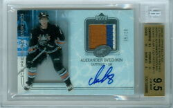 2005-06 U.D. ICE PREMIERES AUTO PATCHES ALEXANDER OVECHKIN ROOKIE BGS 9.5   510
