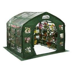 FlowerHouse FHFH700CL Farmhouse 9 X 9 Foot Portable Greenhouse