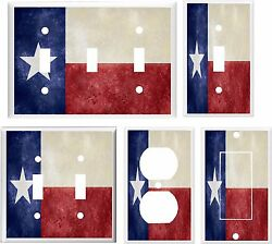 TEXAS STATE FLAG LIGHT SWITCH COVER PLATE     U PICK PLATE SIZE $6.19