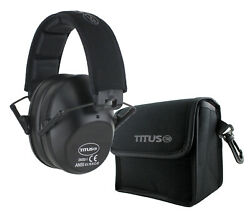 TITUS Shooting Gun Range Noise Reduction Ear Muffs High 34 NRR Protection Slim $22.99